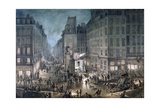 Parade on the Place De L'Ecole, 1823 Giclee Print by Jean Pierre Norblin