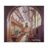 Great Hall, Charterhouse, London, 1885 Impressão giclée por John Crowther