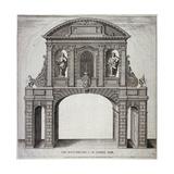 The West Prospect of Temple Bar, London, C1770 Giclée-tryk af John Nixon