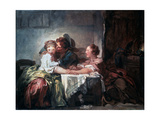 The Captured Kiss, Late 18th Century Reproduction procédé giclée par Jean-Honore Fragonard