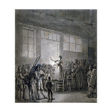 A Popular Singer, 19th Century Giclee Print by Jean Pierre Norblin