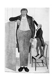 Mr O'Brien, the Irish Giant, the Tallest Man in the known World, 1803 Giclee Print by John Kay