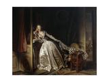 The Stolen Kiss, End 1780S Giclée-Druck von Jean-Honore Fragonard