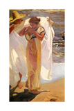 After the Bath, 1908 ジクレープリント : ホアキン・ソロリャ・イ・バスティダ