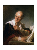 Denis Diderot, 18th Century French Man of Letters and Encyclopaedist, C1755-1784 Reproduction procédé giclée par Jean-Honore Fragonard