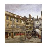 The George Inn, Borough High Street, Southwark, London, 1880 Impressão giclée por John Crowther