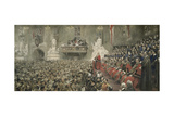 The City Imperial Volunteers in Guildhall, London, 1900 Giclee Print by John Henry Frederick Bacon