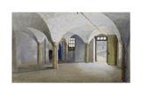 Interior View of Queen's Bench Prison, Borough High Street, Southwark, London, 1879 Impressão giclée por John Crowther