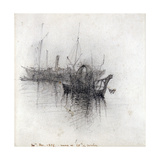 Study of Shipping, 1876 Giclee Print by John Ruskin