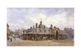 View of Oxford Market, St Marylebone, Westminster, London, C1880 Impressão giclée por John Crowther