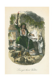 Scene from a Christmas Carol by Charles Dickens, 1843 Lámina giclée por John Leech