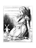 Scene from Alice's Adventures in Wonderland by Lewis Carroll, 1865 Lámina giclée por Tenniel, John