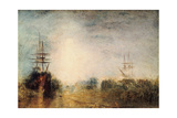 Whalers (Boiling Blubbe) Entangled in Flaw Ice, Endeavouring to Extricate Themselves, 1846 Giclee Print by J. M. W. Turner