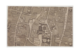 Plan of Guildhall and the Neighbourhood around Guildhall, London, 1747 Giclee Print by John Rocque