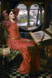 I Am Half Sick of Shadows, C1911 Giclée-tryk af John William Waterhouse