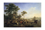 Mass in the Country around Rome, Late 18Th/Early 19th Century Giclee Print by Nicolas Antoine Taunay