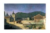View of the Escorial, Spain, Early 18th Century Lámina giclée por Michel-ange Houasse
