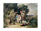 The Shepherd's Family, 1837 Giclee Print by Ludwig Richter