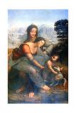 Virgin and Child with St Anne, 1502-1516 Gicléedruk van  Leonardo da Vinci