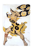 Ephebe, Costume Design for a Ballets Russes Production of Tcherepnin's Narcisse, 1911 Reproduction procédé giclée par Leon Bakst