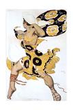 Ephebe, Costume Design for a Ballets Russes Production of Tcherepnin's Narcisse, 1911 Giclee-trykk av Leon Bakst