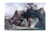 The Fiddler of the Village, 1845 Giclee Print by Ludwig Richter