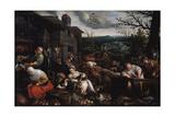 November' (From the Series 'The Seasons), Late 16th or Early 17th Century Giclée-vedos tekijänä Leandro Bassano