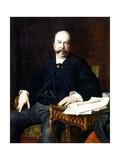 Portrait of Henri Meilhac, 1885 Lámina giclée por Jules Elie Delaunay