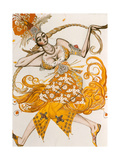 The Firebird, Costume for the Firebird, the Ballet by Lgor Stravinsky, 1910 Reproduction procédé giclée par Leon Bakst