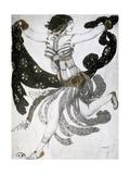 Cleopatra, Ballet Costume Design, 1909 Giclée-vedos tekijänä Leon Bakst