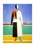 Woman with a Rake, 1928-1932 Giclée-tryk af Kazimir Malevich