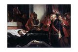 The Last Respects to the Remains of the Counts Egmont and Hoorn, 1863 Reproduction procédé giclée par Louis Gallait