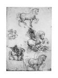 Studies for the Trivulzio Monument, C1508 Giclee Print by  Leonardo da Vinci