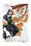 Two Bacchantes, Costume Design for a Ballets Russes Production of Tcherepnin's Narcisse, 1911 Giclée-vedos tekijänä Leon Bakst