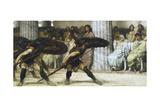 The Pyrrhic Dance, 1869 Giclée-tryk af Lawrence Alma-Tadema