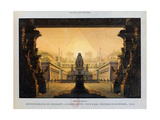The Temple of Isis and Osiris, the Magic Flute, 1816 Giclee Print by Karl Friedrich Schinkel