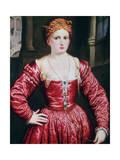 Portrait of a Young Woman, C1550 Giclée-tryk af Paris Bordone