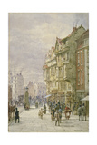 View East Along Holborn with Figures and Horse-Drawn Vehicles on the Street, London, 1875 Giclee Print by Louise Rayner