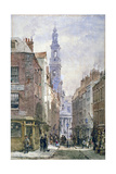 View of Drury Court from Wych Street, Westminster, London, C1875 Giclee Print by Louise Rayner