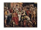 The Marriage at Cana, 1596-1597 Giclée-Druck von Martin de Vos