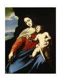 Virgin and Child, Early 1640S Giclée-tryk af Massimo Stanzione