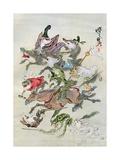 Hunting Animals, 1898 Giclee Print by Kawanabe Kyosai
