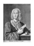Antonio Vivaldi, Italian Baroque Composer, Catholic Priest, and Virtuoso Violinist, 1725 Giclée-Druck von Peter La Cave