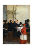 The Blessed Bread, C1879 Giclee Print by Pascal Adolphe Jean Dagnan-Bouveret