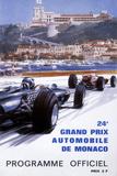The Official Programme for the 24th Monaco Grand Prix, 1966 Giclee-trykk av Michael Turner