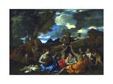 Le Grand Bacchanal, 1627-1628 Stampa giclée di Nicolas Poussin