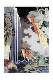 Ono Waterfall Along the Kisokaido, C1780-1849 Impressão giclée por Katsushika Hokusai