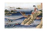 Oyster Fishing, C1785-1849 Impressão giclée por Katsushika Hokusai