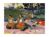 Nave Nave Moe (The Sacred Spring: Sweet Dreams, 1894 Giclee Print by Paul Gauguin