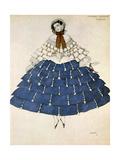 Chiarina, Design for a Costume for the Ballet Carnival Composed by Robert Schumann, 1919 Giclée-vedos tekijänä Leon Bakst